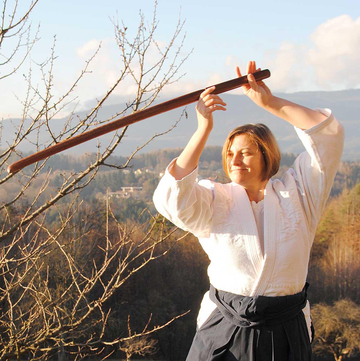 Ursula Weixler beim Aikido